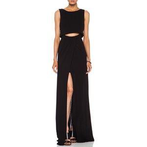 ALC Hillseth Viscose Maxi Dress Black
